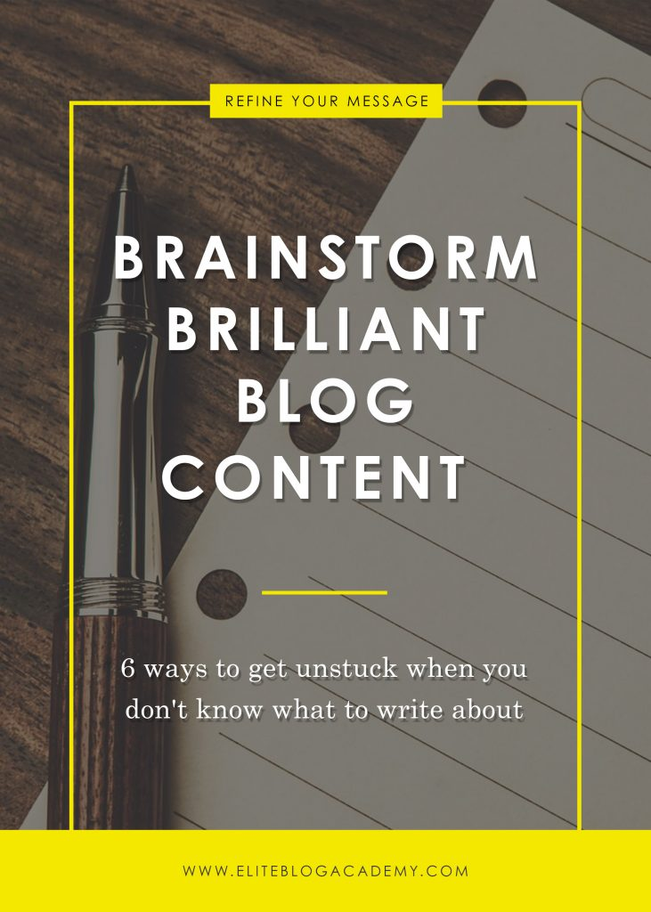 Brainstorm Brilliant Blog Content