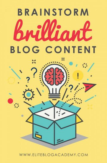 Feeling stumped coming up with new blog ideas? Get those creative juices flowing with these tips on how to brainstorm blog content and ditch writer's block! #blogging #bloggingtips #writing #writingtips #blogpost