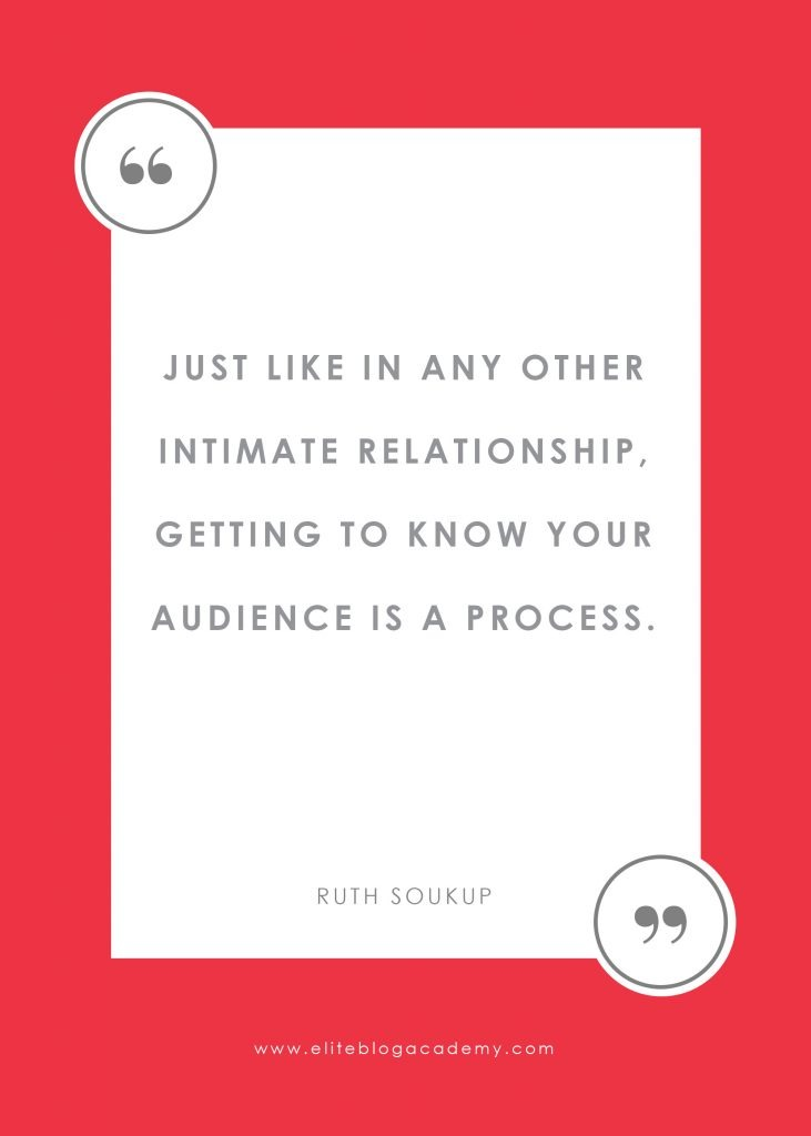 "Keeping Your Focus As A Brand New Blogger quote "" Just Like in any relationship, getting to know your audience is a process. """