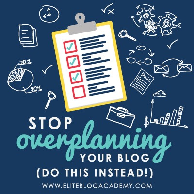 Ever feel like ideas for your blog never come to fruition? Get over the planning hump with these simple tips on taking action quickly.