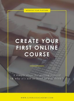 Create Your First Online Course