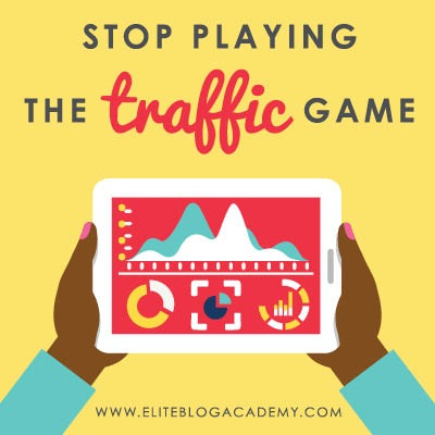 If you're sick of playing the traffic game, don't miss these tips for converting your blog's visitors into an audience that sustains your blogging business.