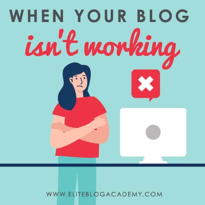 Frustrated by a lack of results on your blog? When nothing seems to work, it may be tempting to start over or throw in the towel altogether. Before you make a drastic change, check out these reasons your blog may not be working (and the next steps to get your blog back on track)!