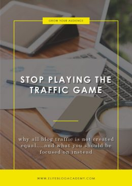 Stop Playing the Traffic Game Blog Header