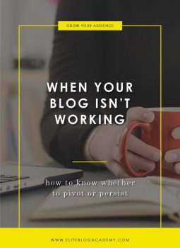 When Your Blog Isn't Working | How to Know Whether to Pivot or Persist | How to Make Money Blogging | Brand New Blogger | Blogging Tips | EBA | Elite Blog Academy | How to Blog | Blogging 101