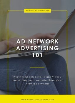 Ad Network Advertising 101 | Elite Blog Academy | How to Start a Profitable Blog |How to Make Money Blogging | Blogging 101 | Blogging for Beginners