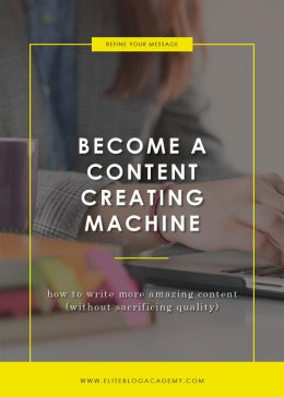 Become a Content Creating Machine
