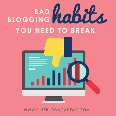 Feel like you're not getting the most out of your work week? These bad blogging habits could be sabotaging your success! If you want to take your productivity to the next level, don't miss these 8 bad blogging habits and how to break them! #badblogginghabits #bloggingtips #blogging #blogginginspiration #bloggingmotivation #onlinebusinesstips #entrepreneur #mompreneur #girlboss