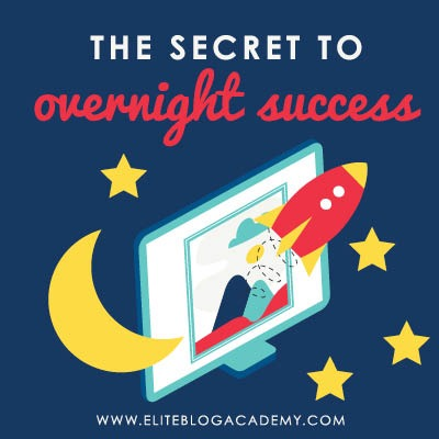 "Running out of patience trying to grow your blogging business? If you've been comparing yourself to ""overnight success"" stories, you might be focusing on the wrong thing. Instead, try these tips for focusing on the baby steps to build a blogging business that lasts!"