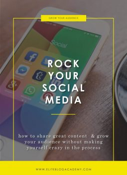 Rock Your Social Media | Elite Blog Academy | Social Media Strategy | How to Start a Profitable Blog | How to Blog for Profit | Social Media and Blogging | Blogging 101