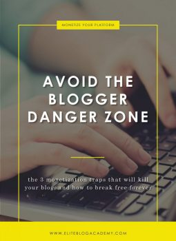 Avoid the Blogger Danger Zone | Elite Blog Academy | Avoid Playing the Traffic Game | Blogging Mistakes |How to Make Money Blogging | Blogging 101 | How to Start a Profitable Blog