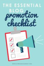 The Essential Blog Promotion Checklist