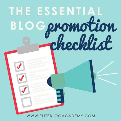 Need a consistent way to promote your blog posts? Use this essential blog promotion checklist to make sure your posts get the attention they deserve!