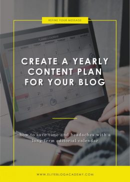 Create A Yearly Content Plan For Your Blog-Blog Header​​​