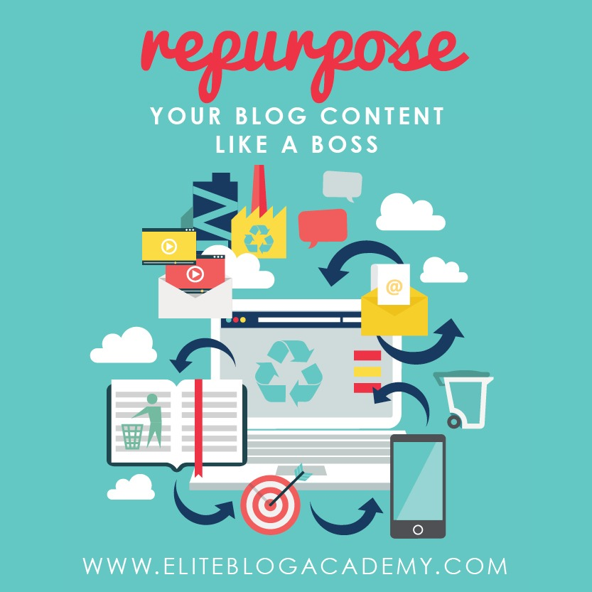 Think that repurposing blog content is like cheating? It's not! It's actually one of the best ways to grow and educate your audience… as long as you do it right! Check out these tips on how to repurpose your blog content like a boss!