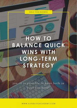 How to Balance Quick Wins with Long-Term Strategy