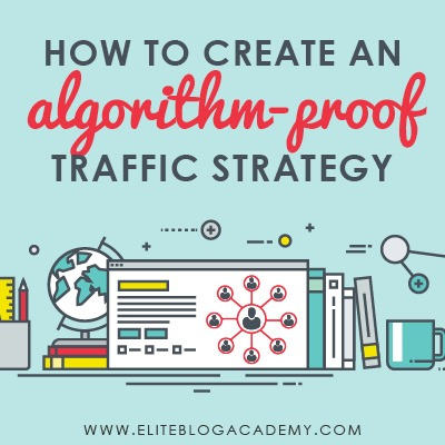 Devastated by Facebook's new algorithm change? You could be relying too much on external social media platforms to grow your blog. Check out these tips for how to build a traffic strategy that works no matter what curveballs social media platforms throw your way.