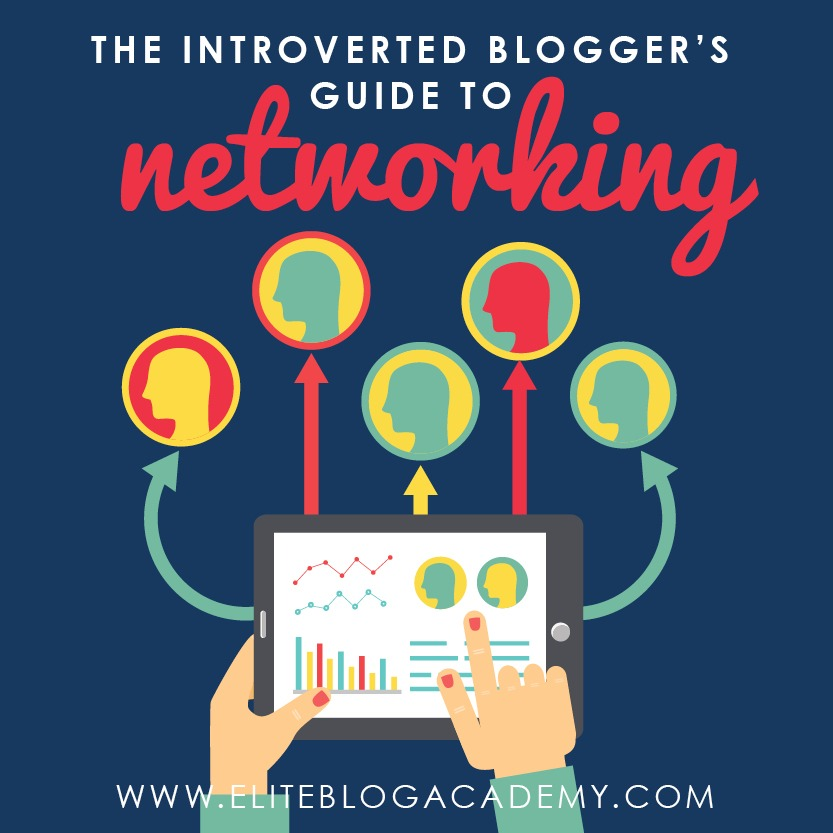 """Does the idea of """"networking"""" make you a nervous wreck? Me too, but there's so much to gain and learn from our fellow bloggers that sometimes, we have to push through! Check out The Introverted Blogger's Guide to Networking to learn how!"""