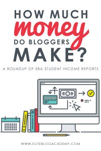 Curious about how much money bloggers actually make? The truth is, there is more than one way to earn income online, and the sky's the limit! These Elite Blog Academy students and alumni share their income reports and some tips on how you can make money with your blog, too!