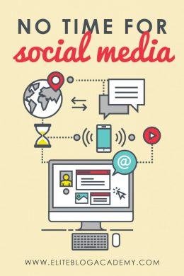No time for social media promotion? Here are some tips on how to promote your blog on social media when you have no time. #socialmedia #blogging #blogginghelp #timesavinghacks #socialmediahacks
