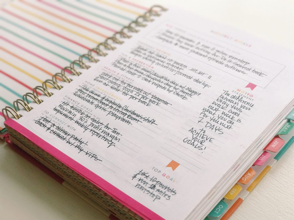 Living Well Planner® Monthly Goals Page