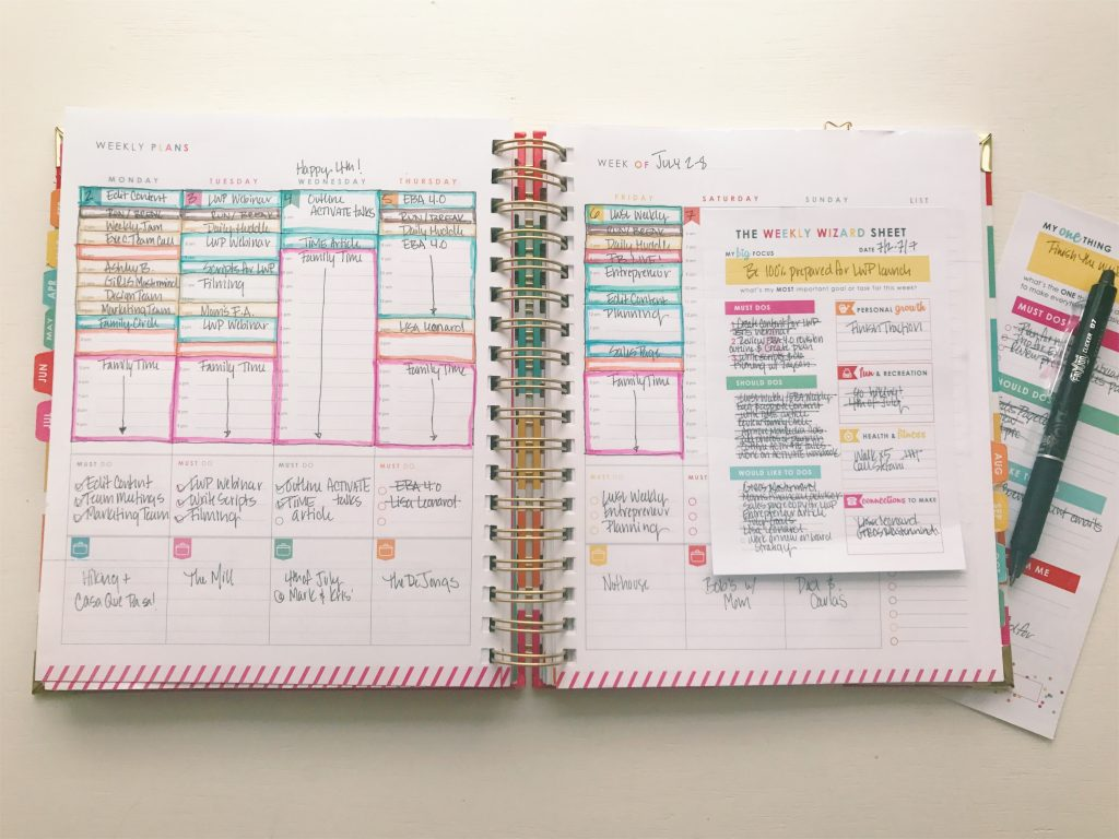 Living Well Planner® Weekly Planning Page