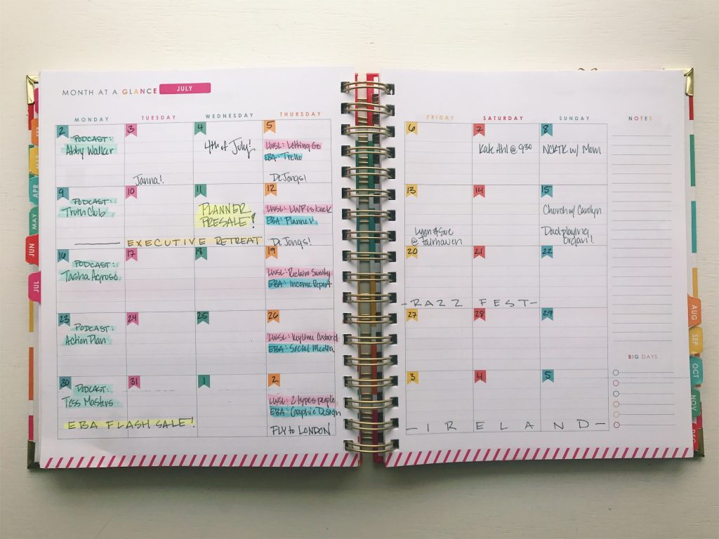 Living Well Planner® Monthly Planning Page