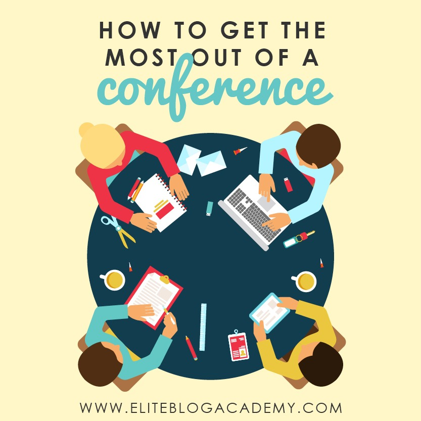 Going to a networking event, but suffering from pre-conference jitters? Attending conferences can be a great opportunity to learn a lot and meet wonderful people, but it doesn't have to be a challenge. Don't miss these tips on how to get the most out of a conference and hopefully come away with a few friends in the process! #eliteblogacademy #activate #blogging #networking