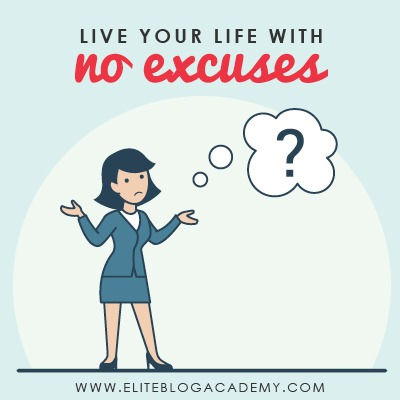 In the blogging world, there are many obstacles, something inevitably standing between you and that finish line. But what happens when you stop the excuses? When you consciously take control of your own life and don't let anything stand in your way? Would that lead to success? Don't miss this post, where you'll learn how to take control of your own destiny, remove the things keeping you stuck, and start creating a life you love!In the blogging world, there are many obstacles, something inevitably standing between you and that finish line. But what happens when you stop the excuses? When you consciously take control of your own life and don't let anything stand in your way? Would that lead to success? Don't miss this post, where you'll learn how to take control of your own destiny, remove the things keeping you stuck, and start creating a life you love! #eliteblogacademy #doitscared #doitscaredpodcast #noexcuses #loveyourlife #blogging #bloggers