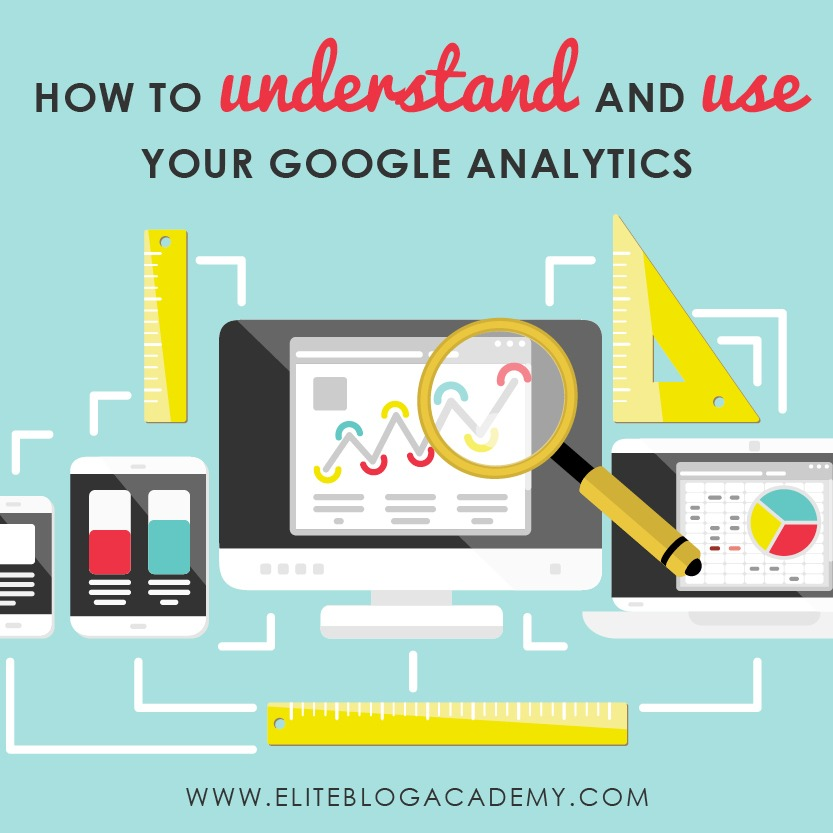 Google Analytics...just saying those two words strikes fear in the hearts of many bloggers. After all, numbers can seem scary, especially if you're more of a creative type. Here is how to use the google analytics reporting we check most frequently! #eliteblogacademy #googleanalytics #bloggingtips #blogginghelp #analytics