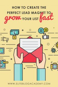 How to Create the Perfect Lead Magnet to Grow Your Email List Fast