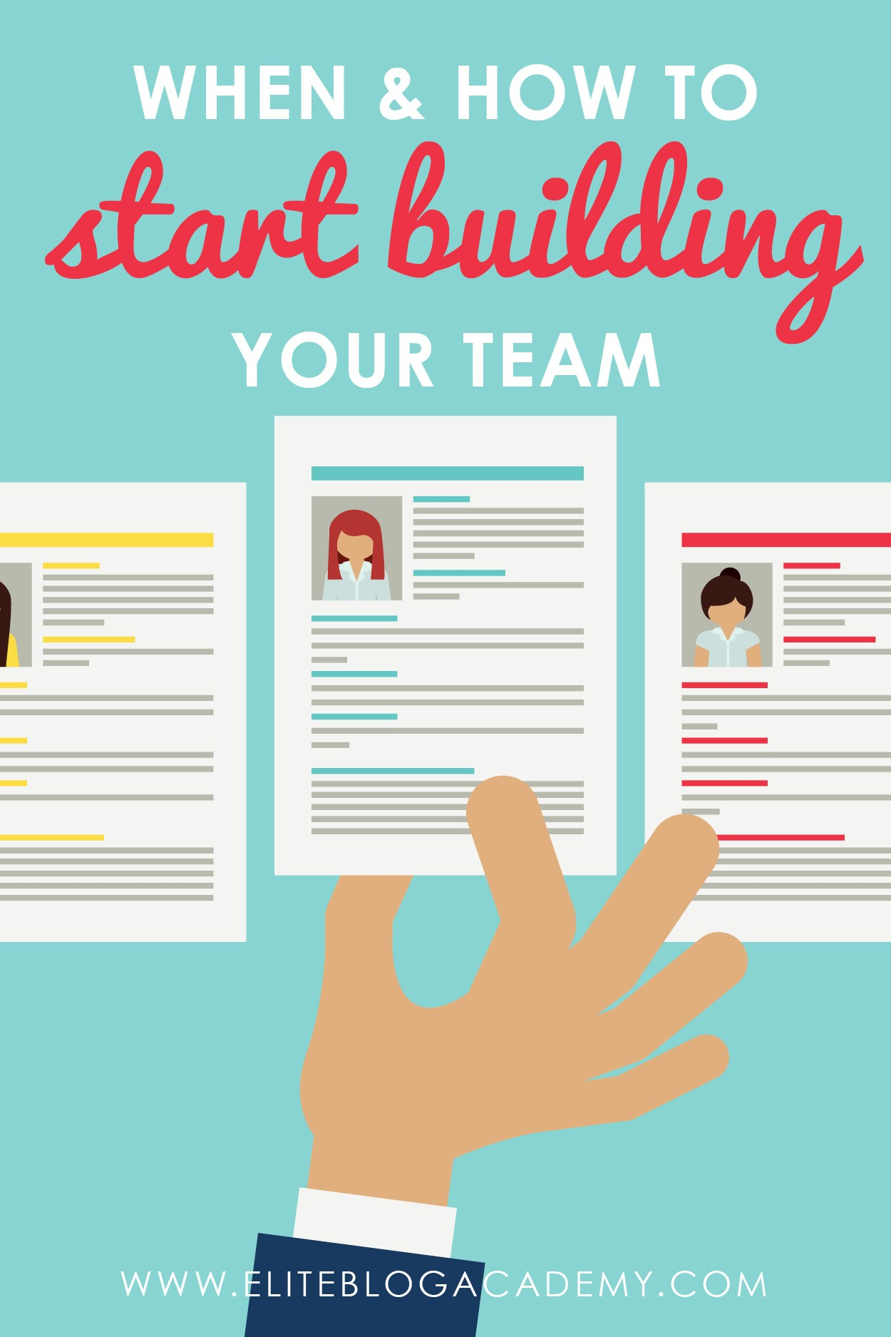 When should you start hiring help for my blog? Are you ready to start building your team? Don't miss these 3 easy steps to follow to help you in your hiring journey! #eliteblogacademy #eba #makemoneyfromhome #teambuilding