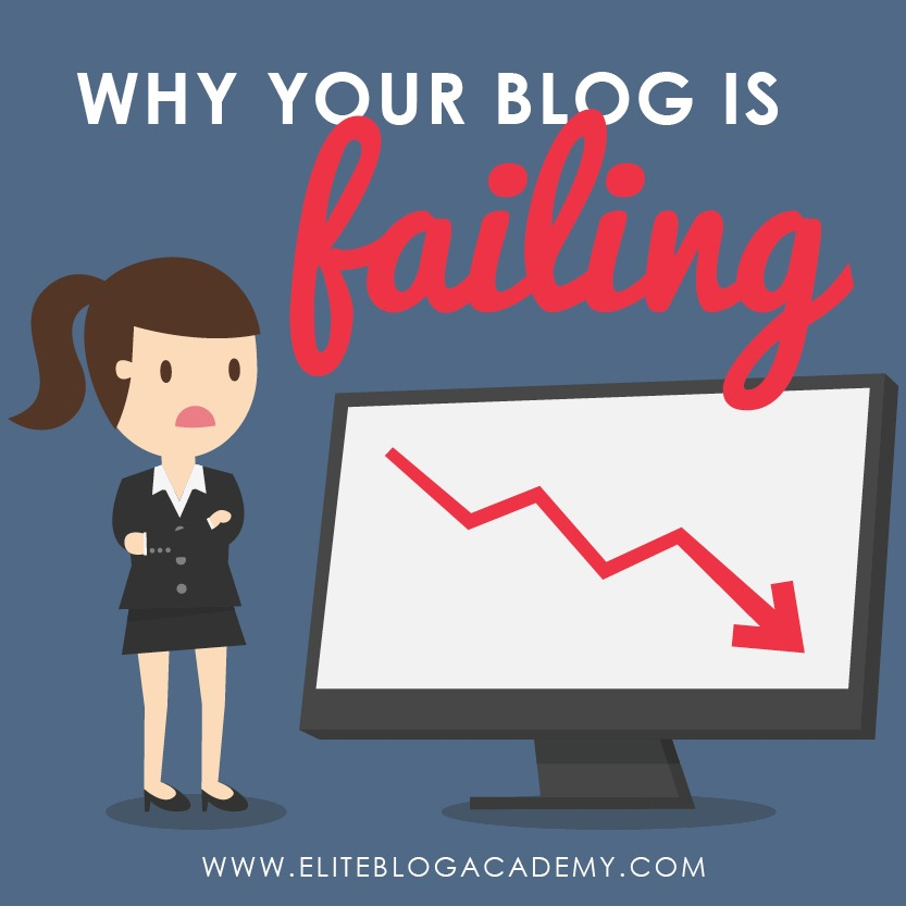 Blogging can feel pretty scary sometimes. Here are 4 big mistakes that can explain why your blog is failing or not growing as quickly as you wish it would. #blogging #bloggingtips #bloggingmistakes #makemoneyblogging #makemoneyonline