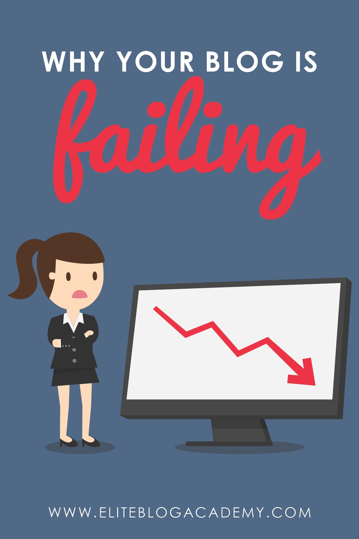 Blogging can feel pretty scary sometimes. Am I failing? Why am I not growing fast enough? Here are 4 big mistakes you're making that will set your blog up for failure (& how to change them)!