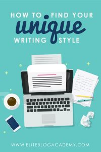 Do you struggle with finding your distinctive voice as a writer? Once you find your unique writing style, you can start writing blog posts that your people will love to read!