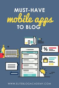 Feeling like you never have enough time to work on your blogging business? These mobile apps can save you a ton of time! From editing your photos to writing posts, you can do just about anything for your blog from the palm of your hand. #bloggingbusiness #mompreneur #girlboss #bloggingtips