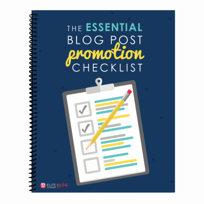 The Essential Blog Post Promotion Checklist 3D DROPSHADOW
