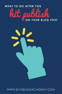 What to Do After You Hit Publish on Your Blog Post