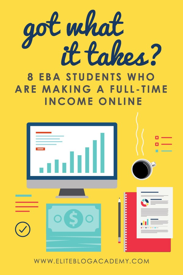 Figuring out how to profit from your passion can be scary, but it's possible! Here are 8 Elite Blog Academy students who are making a full-time income online.