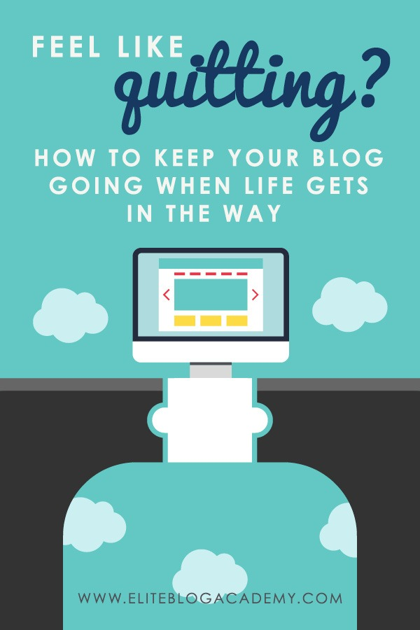 How do you find the courage to keep your blog going when your entire world is falling apart? Here are some ways to push through!