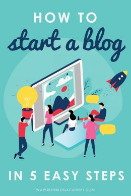 How to start a blog in 5 easy steps | How to start a blog in 2020 | Want to learn how start a blog but not sure where to begin? This comprehensive guide will walk you through setting up a successful blog in 5 easy steps!